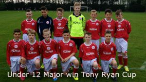 Shelbourne FC Under 12 Major win Tony Ryan Cup