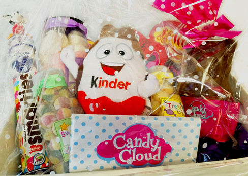 An image of the candy hamper that Shelbourne FC gave out on the launch of the Family Zone at Tolka Park.