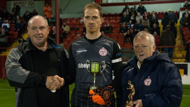 An image of 2017 player of the year and captain Dean Delany.