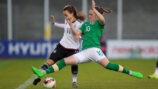 Jess Gargan in action for the Ireland women team