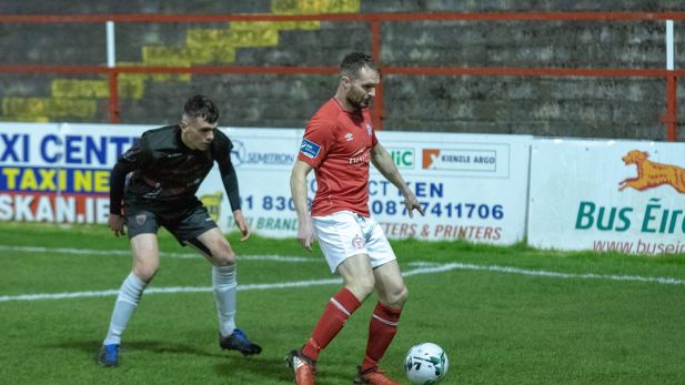 Conan Byrne in action for Shelbourne