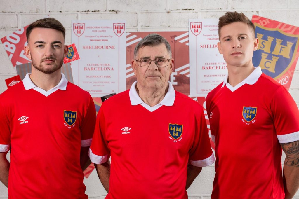 Shelbourne Football Club unveil their new home retro Umbro kit for 2020 SSE Airtricity league season