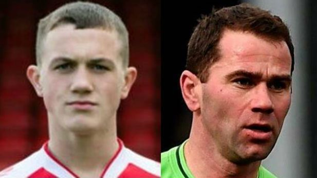 close-up portraits of Shelbourne FC football players Arran Molloy and Dave Mulcahy
