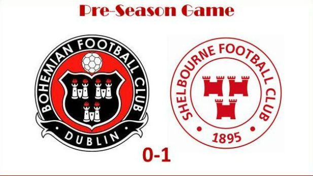 Crests of the Shelbourne and Bohemian football teams