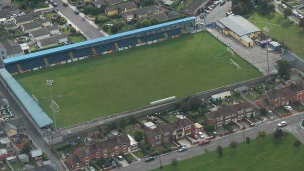 Saint Colman's Park the home stadium for Shelbourne FC's Cork rivals the Cobh Ramblers.