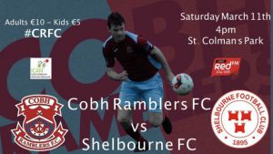 Kick-off at St. Colman's Park on Saturday is now 4.00pm