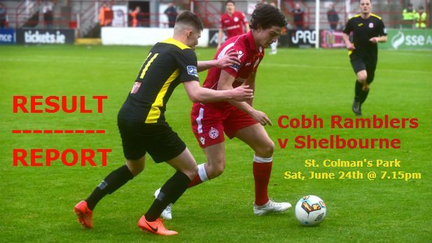 Cobh Ramblers V Shelbourne match report image