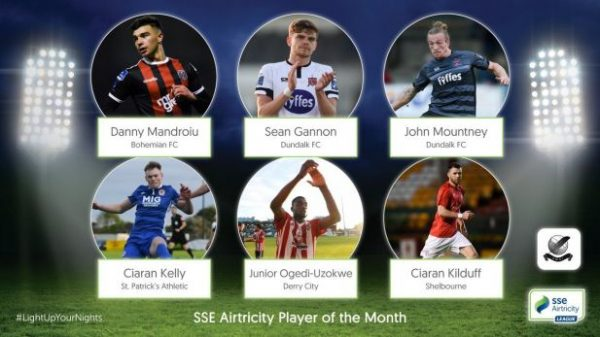 Shelbourne's Ciarán Kilduff nominated for SWAI and SSE Airtricity League Player of the Month award