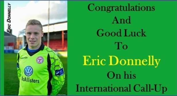 An image of Eric Donnelly being called up for international duty.