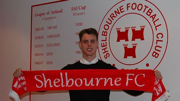 An image of Ian Morris the head coach of Shelbourne FC wwhen he first signed for the club.