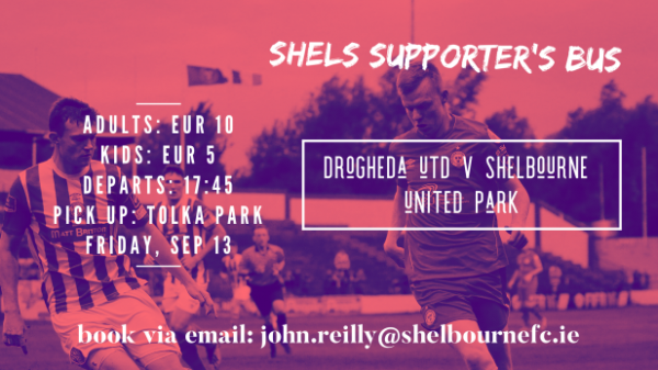 NOW SOLD OUT | Shels Supporters Bus: Drogheda United