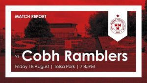 Shelbourne 0-1 Cobh Ramblers : RESULT