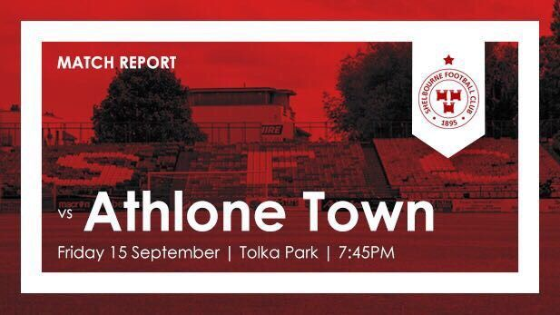 Graphic showing Match report of Shelboune FC and Athlone Town