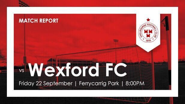 This image shows the graphic of match result Shelbourne FC and Wexford FC
