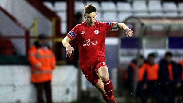Luke Byrne in action for Shelbourne football club