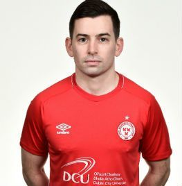 Portrait of Karl Moore the midfielder of Shelbourne FC