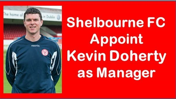 An image of Shelbourne FC manager Kevin Doherty