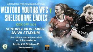 Shelbourne Ladies v Wexford Youths WFC in Cup Final