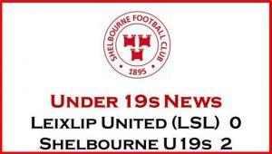 Leixlip United (LSL) 0-2 Shelbourne U19s