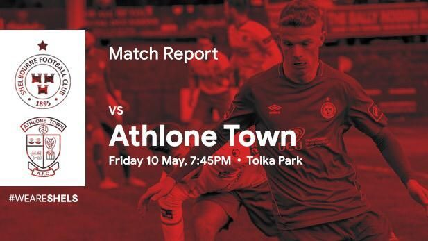 Graphic showing match report between Shelbourne FC and Athlone Town