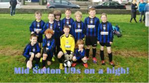 Mid Sutton U9s Thank Robbie