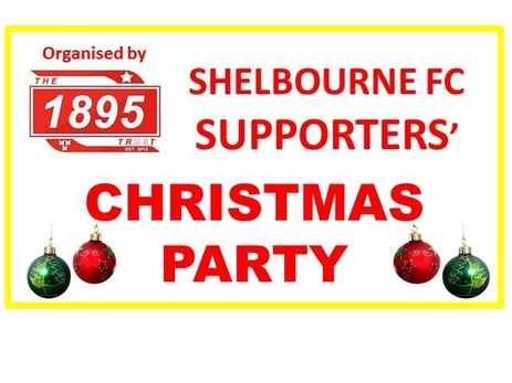 An image of Shelbourne FC Supporters club inviting Shels supporters for a Christmas Party organized by 1895 trust.