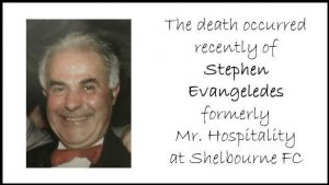 The Death has recently occurred of Stephen Evangeledes