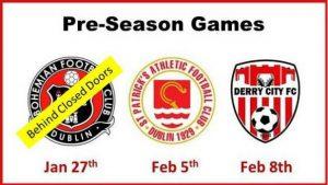 Pre-Season Fixtures – Change