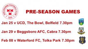 Pre-Season Fixtures 2019