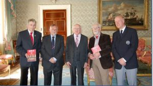 President Higgins Hosts Shelbourne at Aras an Uachtarain