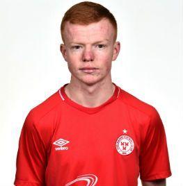 Portrait of Shane Farrell a forward of Shelbourne FC