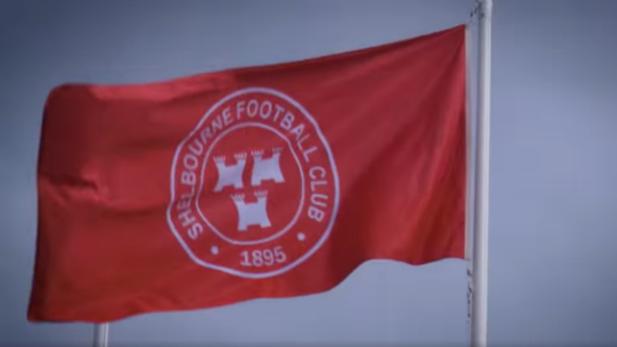 image of a Shelbourne football club flag