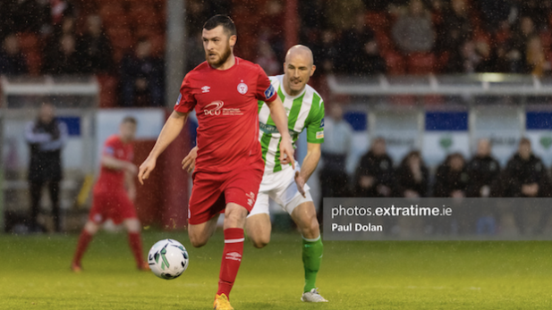 Shelbourne football club in action against Bray Wanderers