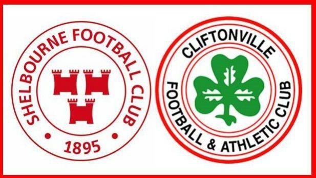 Shelbourne v Cliftonville Match report image. both team crests