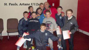 St.Pauls, Artane U12s – Guests at Finn Harps game.