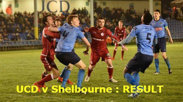 UCD V Shelbourne match report image