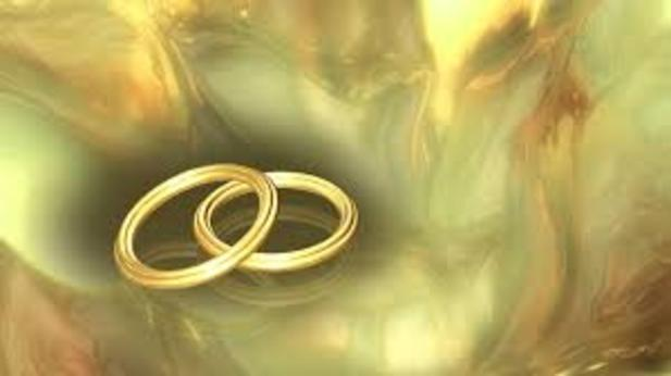 A graphic of two rings together showing the importance of a bond in marriage.
