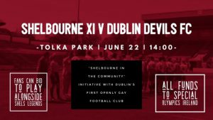Fans auction to play with Reds legends for Shelbourne XI against Dublin Devils FC