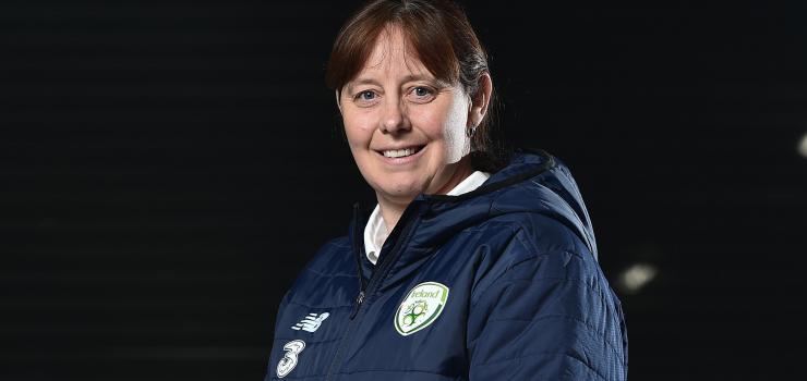 Former Republic of Ireland U16 international manager and Shelbourne FC's Womens U17s 2020 manager Sharon Boyle.