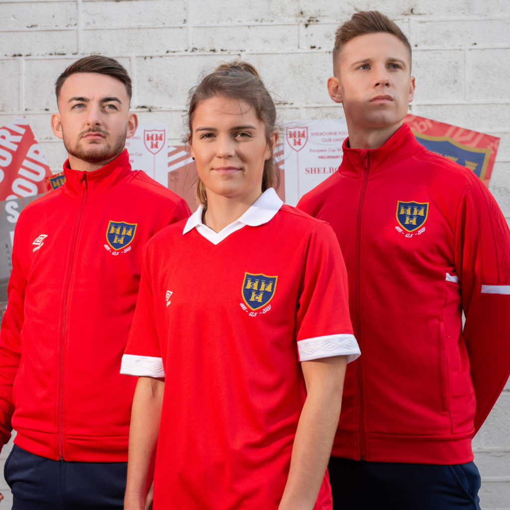 image of Shelbourne unveiling new home kit for SSE Airtricity league season 2020