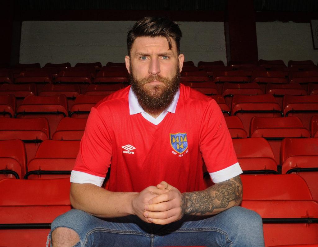 Portrait of Gary Deegan, central midfielder for Shelbourne football club