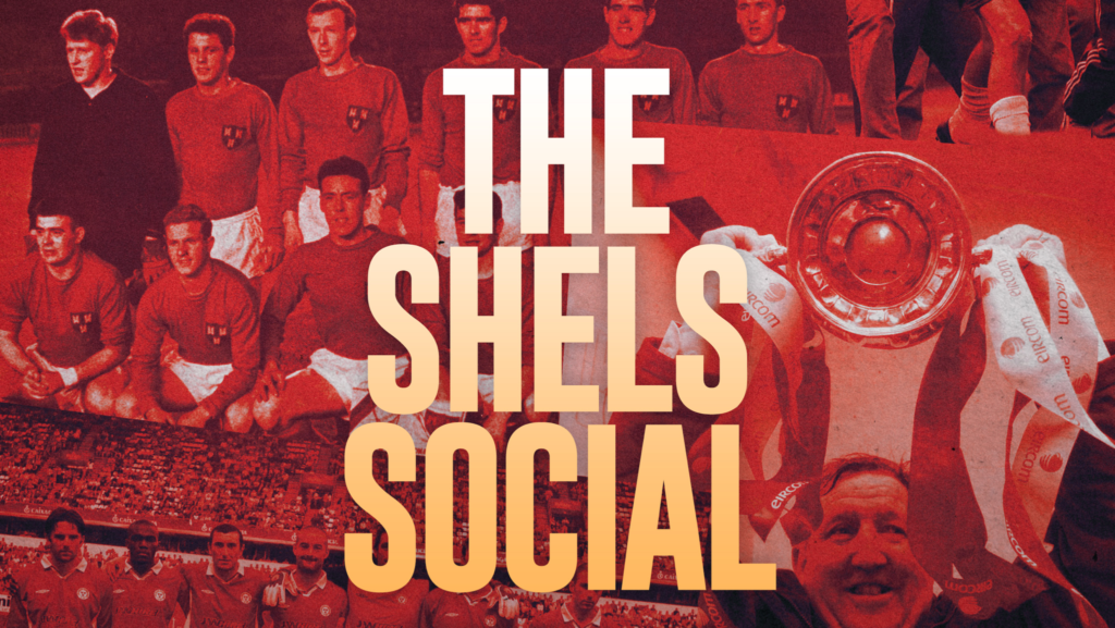 image promoting the shelf social, a promotional event for Shelbourne football club prior to the start of the 2020 SSE Airtricity league season