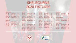 Shels to face Cork City in 2020 season opener