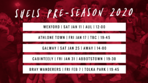Pre-season fixtures announced for 2020