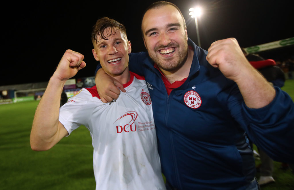 Happy player and fan from ShelbournFC