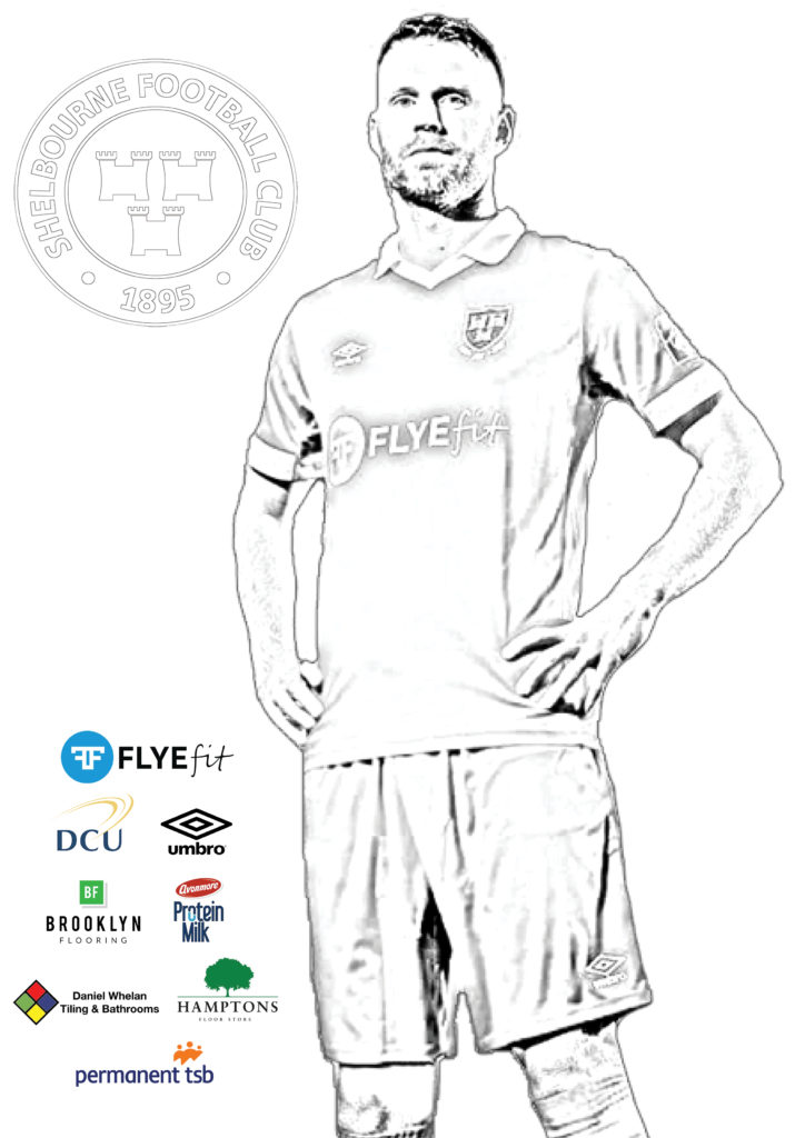 Shelbourne Football Club - Colouring Page 1