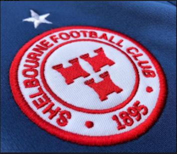 close-up of Shels club crest