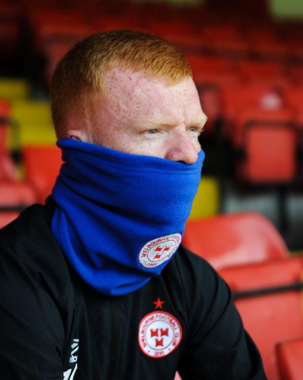 Shelbourne FC snood in blue.