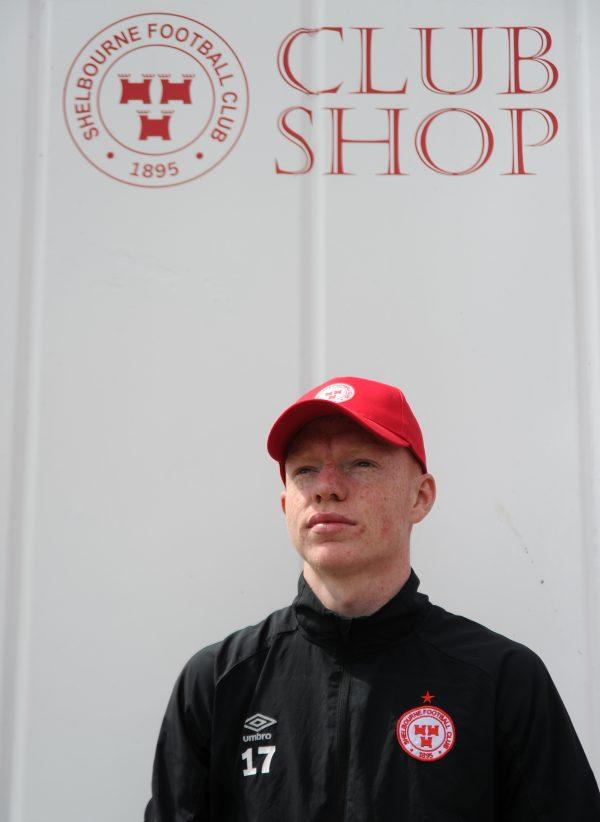 Shelbourne FC cap in red.