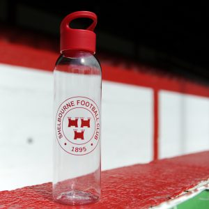 Shelbourne FC water bottle with club crest.